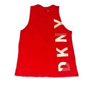 DKNY Women sleeveless Tank Top red size M